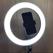 Кольцевая лампа 26 см на штативе 2 метра с держателем для телефона LED подсветкой кольцевая селфи