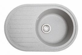 Кухонна мийка Елегант сірий з каменю