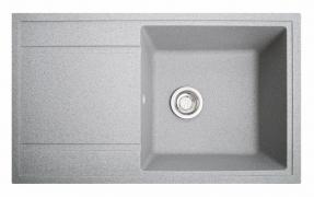Кухонна мийка Тотал сірий з каменю