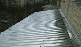 Repair of a roof balcony last floors